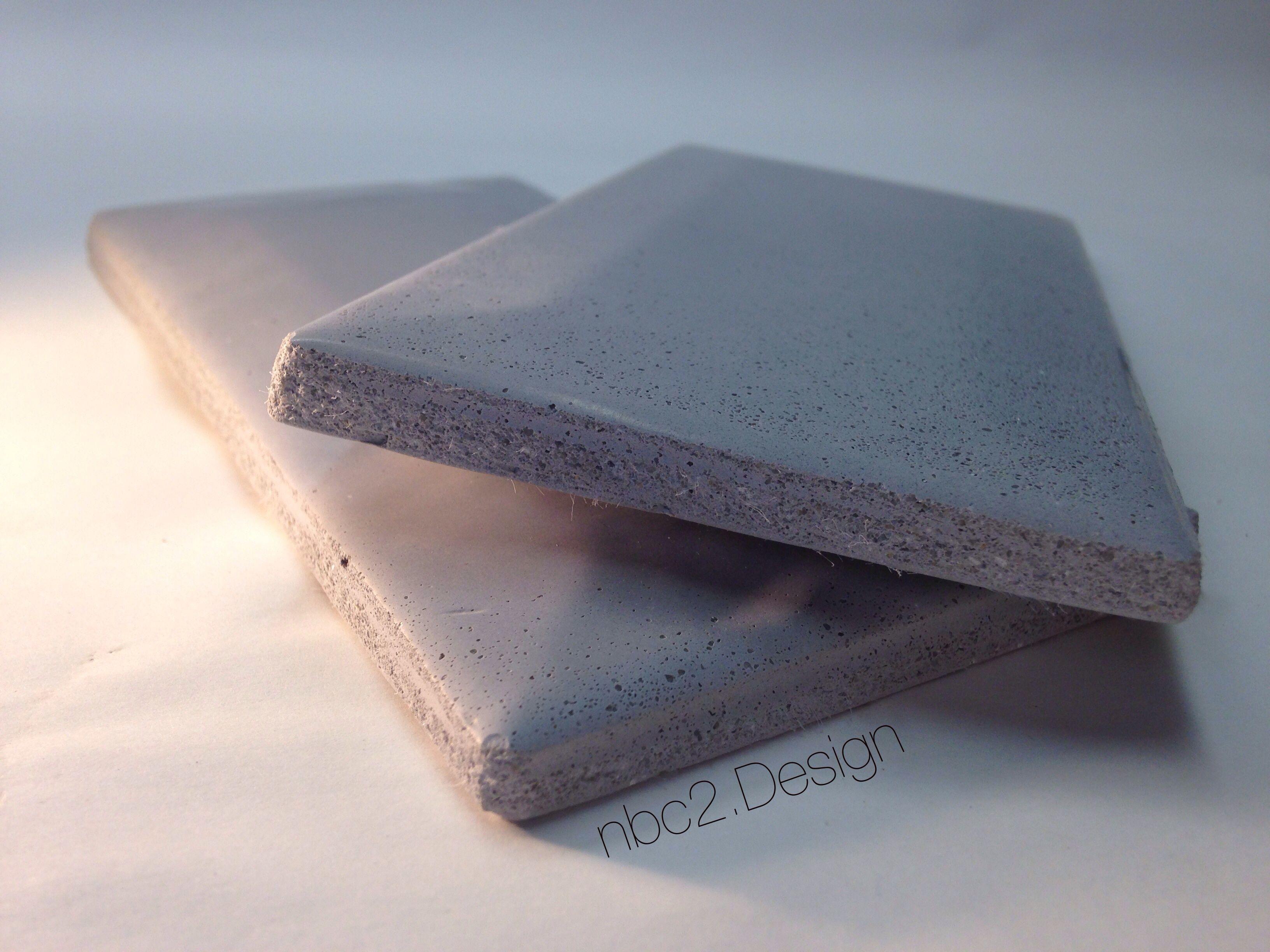 Handmade Concrete Subway Tile Tapered Edges Gray White