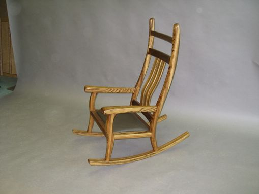 Custom Made Zebrawood Rocker