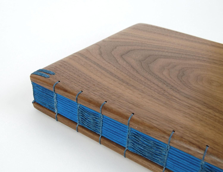 hand made wood guest book black walnut custom fall wedding