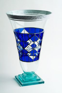 Custom Made Cobalt Blue Vase