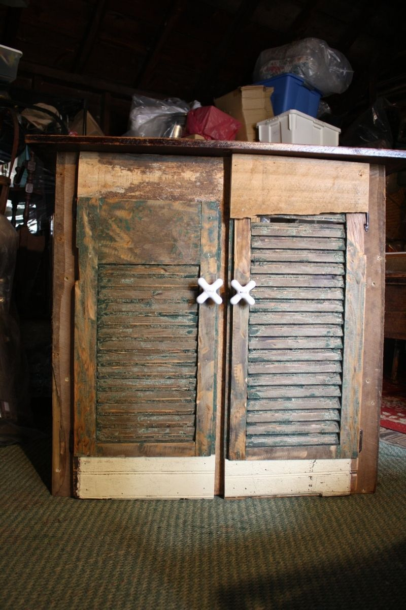 Custom Made Reclaimed Wood Storage Cabinet by HoneyBadger