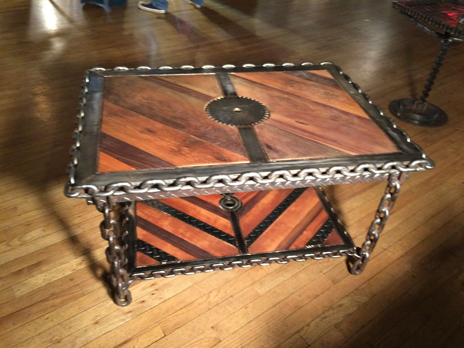 Buy A Hand Made IndustrialSteampunk Coffee Table To