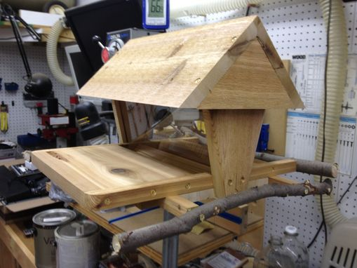 Custom Made Cedar Bird Feeder