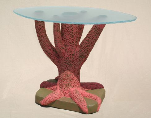 Custom Made Coral Table