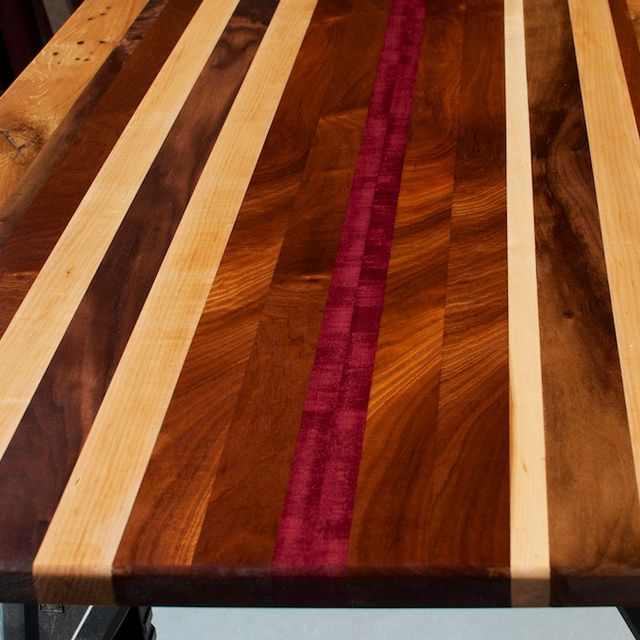 Hand Crafted Reclaimed Wood Countertop Custom Tabletop Unique - Refurbished wood table tops