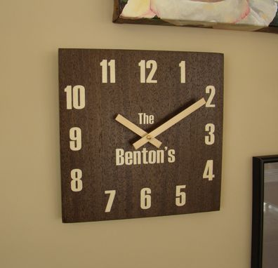 Custom Made Inlaid Wall Clock In Wenge And Maple Wc-11