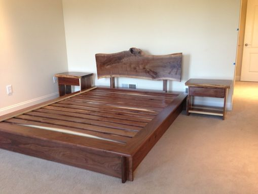 Custom Made Queen Bed And Matching Night Stands