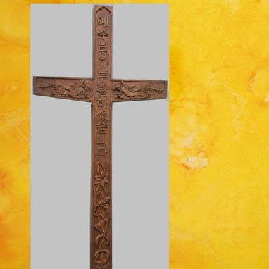 Custom Made Hand Crucifix Cross Korean