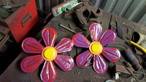 Custom Made Metalwork Flower Wall Art