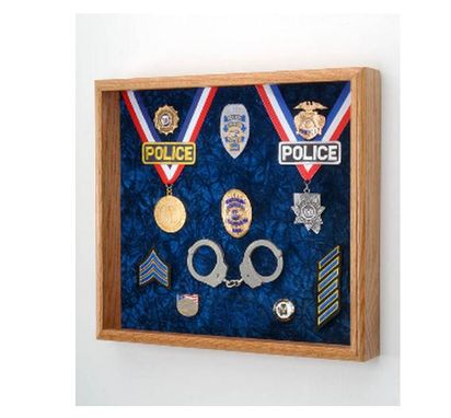 Custom Made Law Enforcement Deluxe Awards Display Case