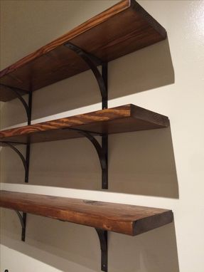 Custom Made Handmade Industrial Steel Shelf Bracket