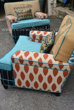 Custom Made Saundra's Custom Mid Century Club Chairs