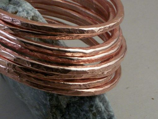 Custom Made 7-Gauge Copper Bangles In Set Of 6