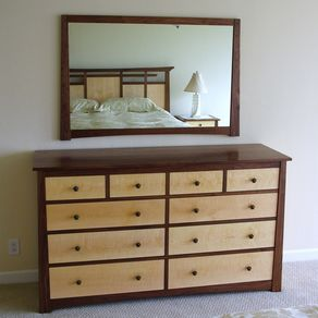 custom bedroom sets. Black Walnut And Curly Maple Dresser Nightstands by Aaron Maes Custom Bedroom Sets  CustomMade com