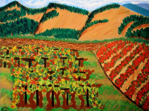 Custom Made Original Wine Country Landscape Painting