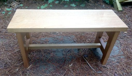 Custom Made Bench Or Table In African Mahogany Contemporay Style
