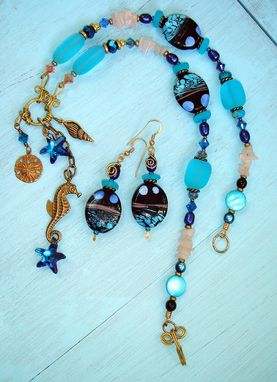 Custom Made Ocean Inspired Charm Necklace Set
