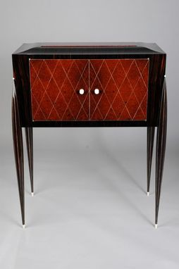 Custom Made Art Deco Liquor Cabinet