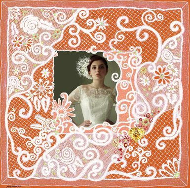 Custom Made Hand-Drawn Lace Photo Matting For Wedding And Special Photos