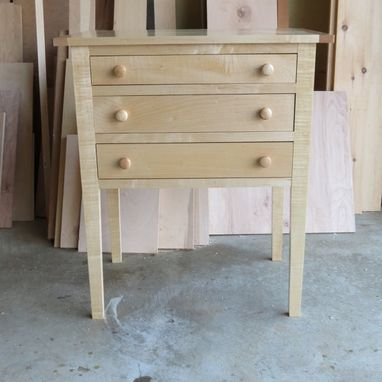 Custom Made Shaker Three Drawer Table From Maple