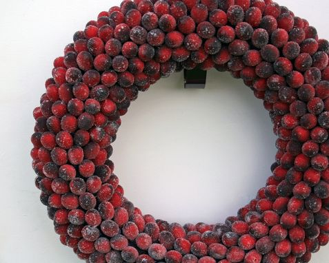 Custom Made Frosted Cranberry Wreath