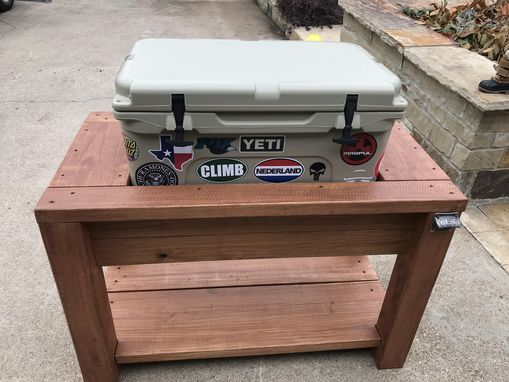 Custom Made Wooden Cooler Stand