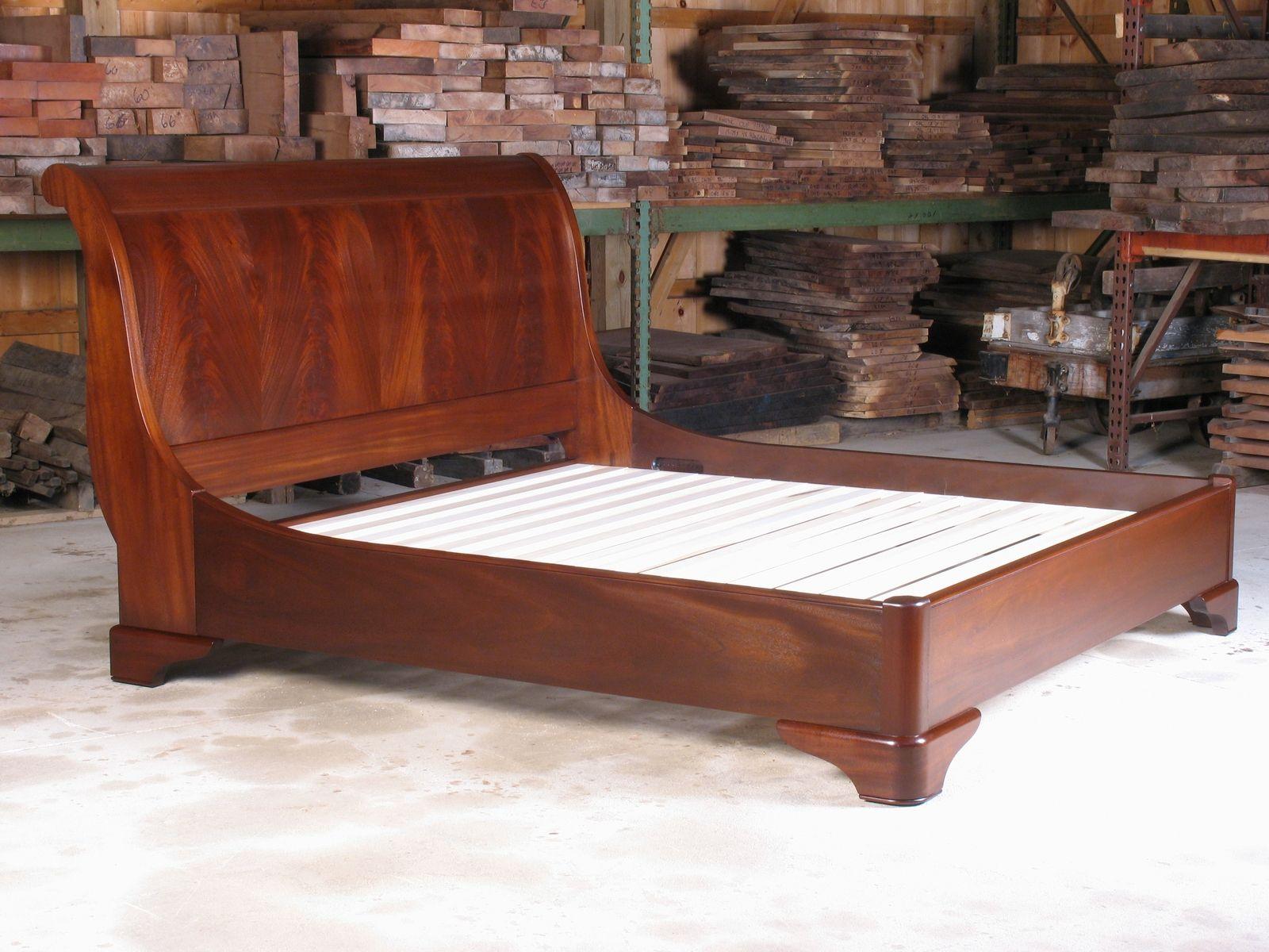 Custom made sleigh bed by e jacobsen furniture maker llc - Custom bedroom furniture ...
