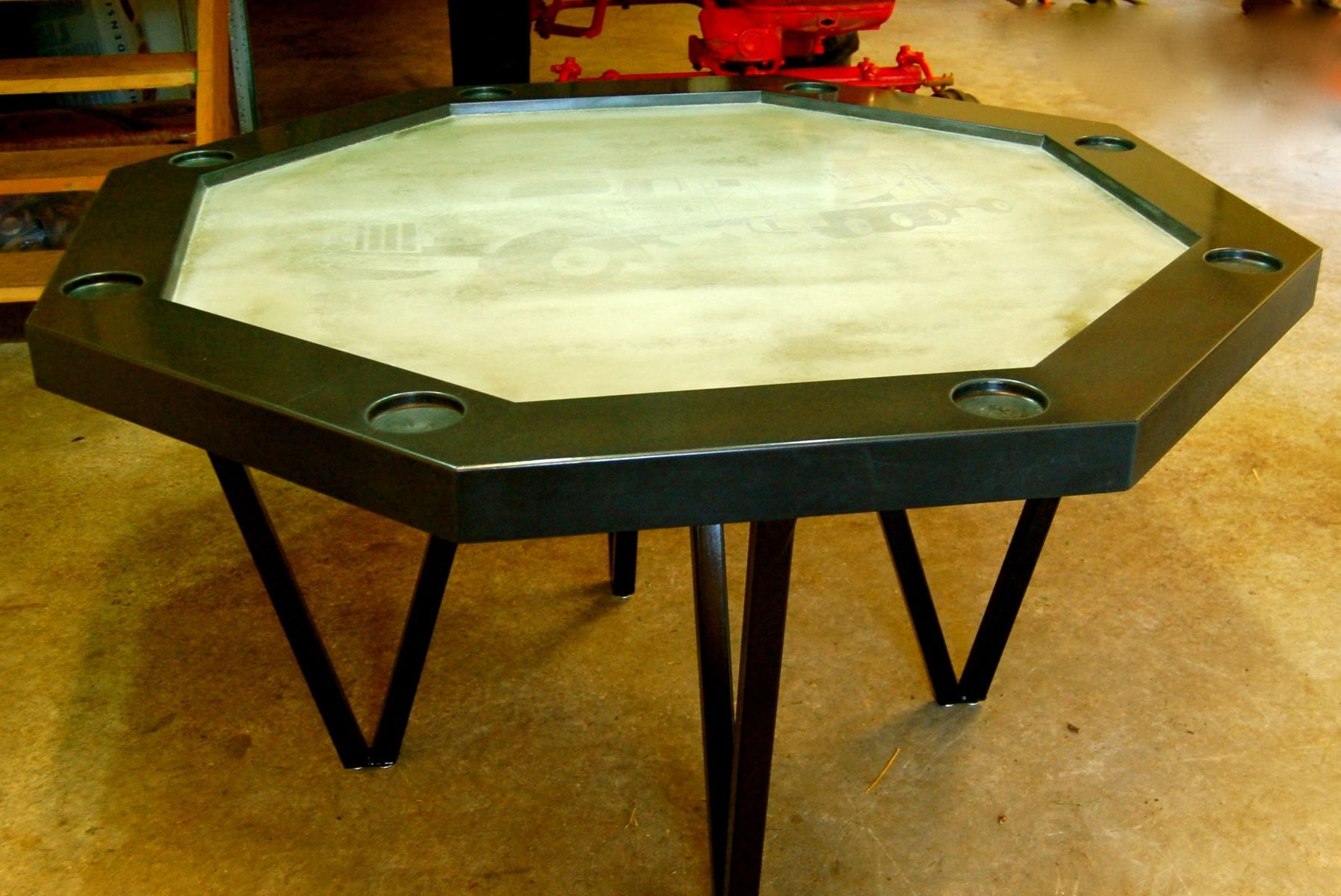 Handmade Concrete Poker Table by Agitated Aggregate | CustomMade.com