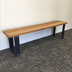 31 Remarkable Reclaimed Wood Bench With Hot Rolled Steel Legs