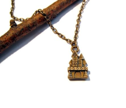 Custom Made Bronze Castle Necklace