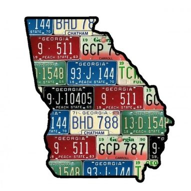 Custom Made State Of Georgia Map