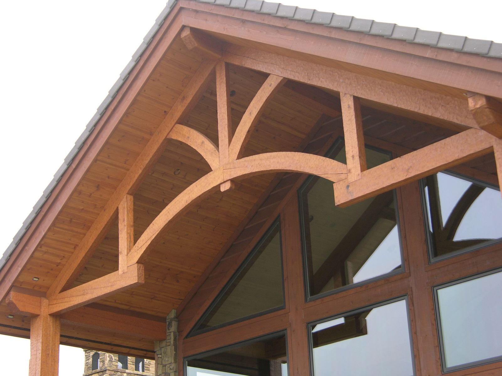 Custom Made Hand-Hewn Rustic Timber Frame Trusses by Master ...