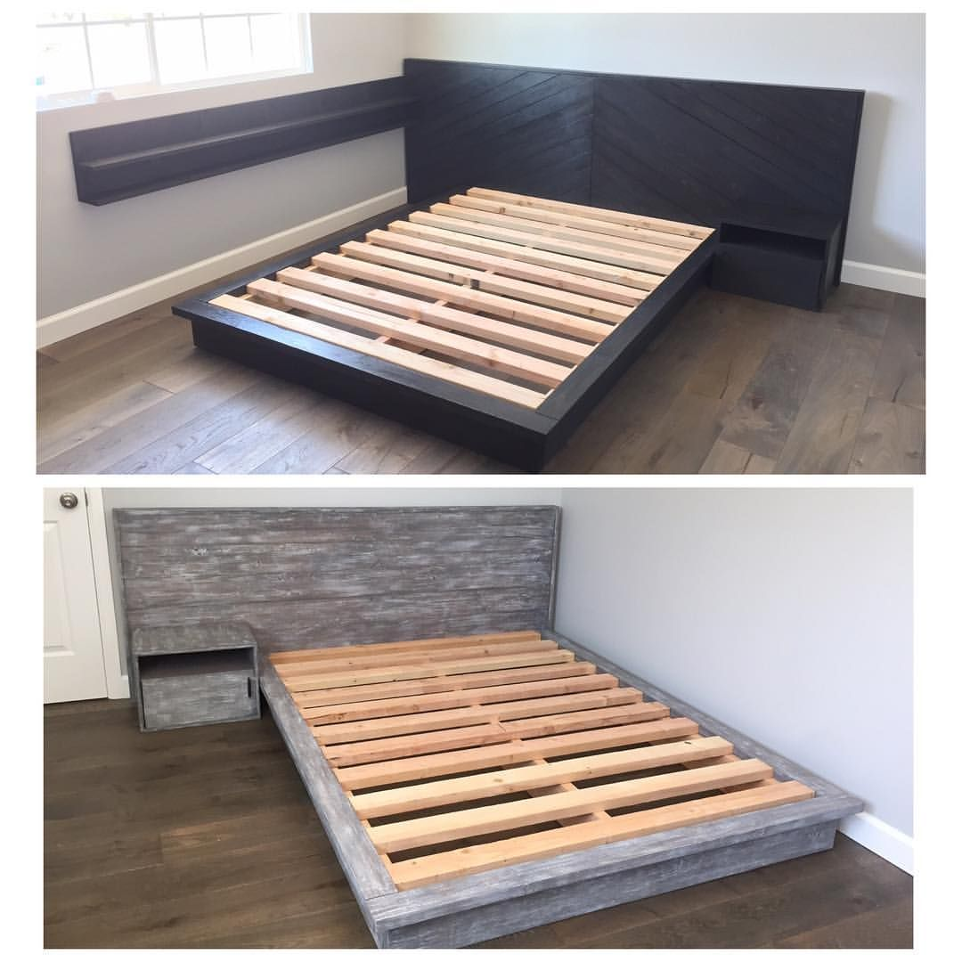 Hand Made Modern Bed Frames And Nightstands By Skipper S