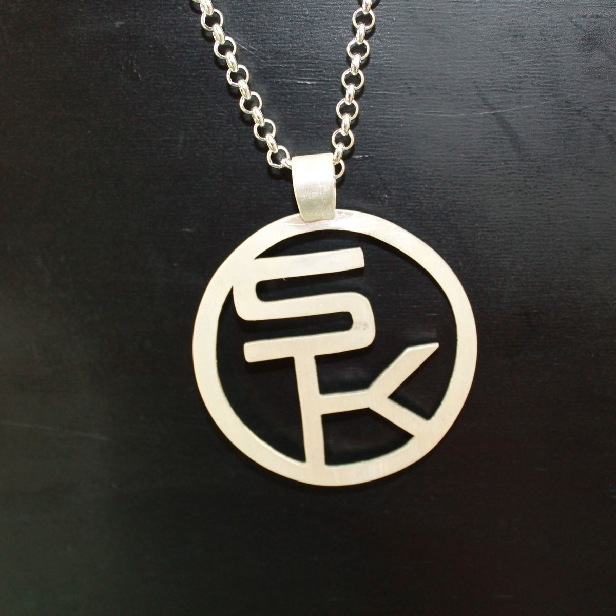 Hand Made Pendant With Sk Letters By Lsf Design