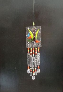 Custom Made Fused Glass Windchime Suncatcher