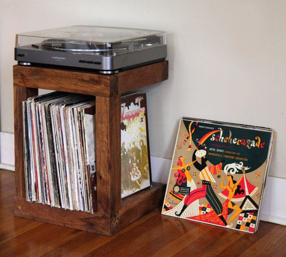 Handmade Handcrafted Record Player Stand Made From