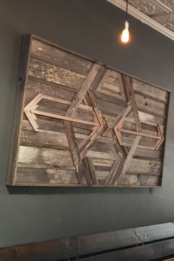 Custom Made Restaraunt Wall Panel