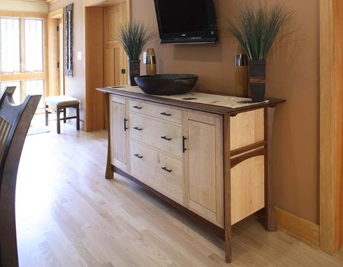 Custom Made Custom Waterfall Sideboard