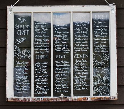 Custom Made Hand Lettered Seating Chart