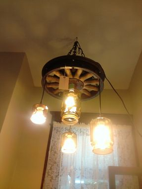 Custom Made Model-T Rustic Chandelier
