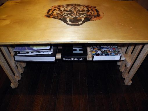 Custom Made Tiger Offee Table