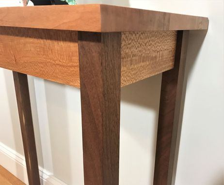 Custom Made Sycamore And Black Walnut Entry Table