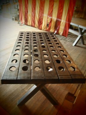 Custom Made Reclaimed Riddling Rack Desks