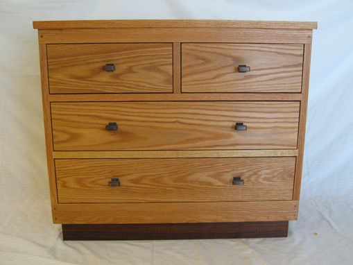 Custom Made Oak Chest Of Drawers