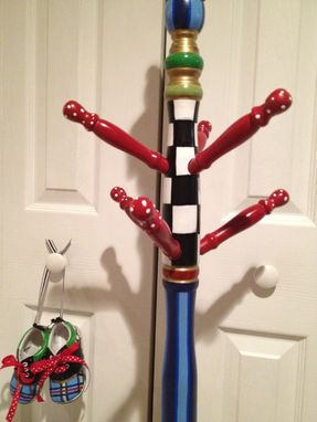 Custom Made Custom -Personalized - Painted To Suit - Hand Painted Coat Rack Clothes Tree Childrens Adult