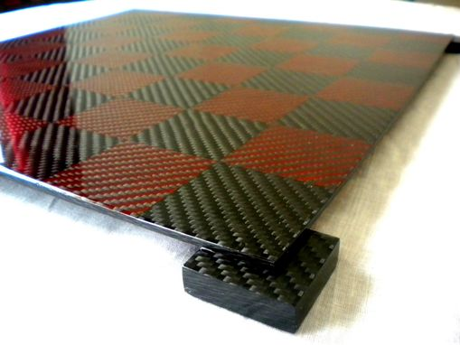 Custom Made Carbon Fiber Chess Board - Large