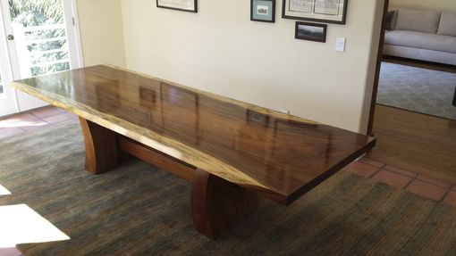 Custom Made Parota Slab Dine Table