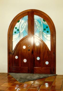 "Custom Made Custom Door ""Circles And A Touch Of Blue"""