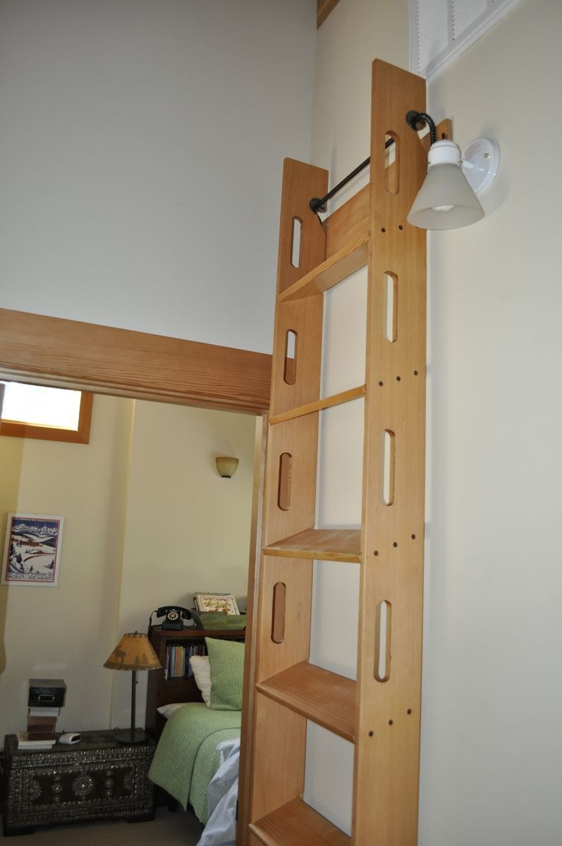 handmade attic access ladder by blake underwood  custommadecom - custom made attic access ladder