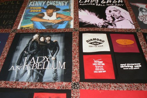 Custom Made T-Shirt Custom Queen Concert T-Shirt Memory Quilt